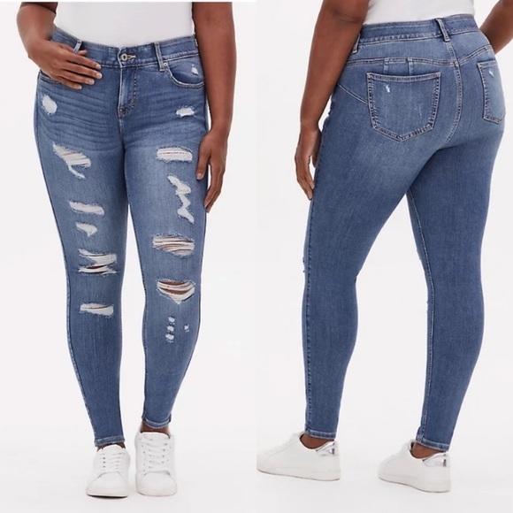 Torrid Premium Distressed Bombshell Skinny Jeans